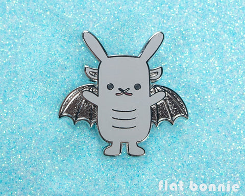 Bungoyle - Gargoyle Bunny enamel pin - Cute backpack pin - 1