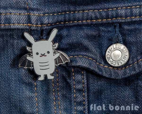 Bungoyle - Gargoyle Bunny enamel pin - Cute backpack pin - 2