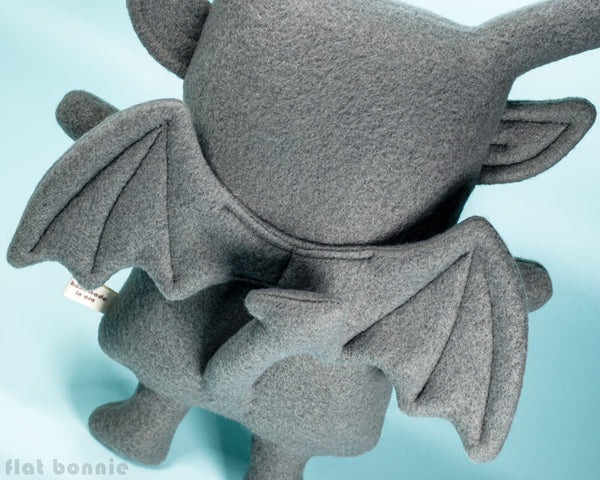 Bunny x Gargoyle plush - BunGoyle stuffed animal toy - Plush Stuffed Animal - Flat Bonnie - 3