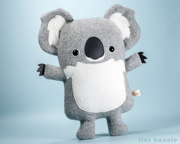 Koala plush stuffed animal - Cute koala soft toy - Handmade - Plush Stuffed Animal - Flat Bonnie - 2