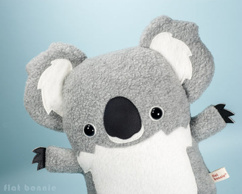 Koala plush stuffed animal - Cute koala soft toy - Handmade - Plush Stuffed Animal - Flat Bonnie - 1