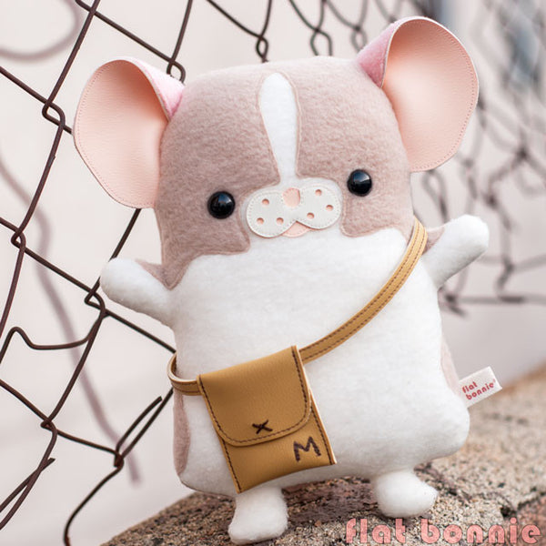 "Flat Bonnie x Marty Mouse - Limited Edition ""Travel Marty"" - Mouse/ Rat stuffed animal plush - Plush Stuffed Animal - Flat Bonnie - 3"
