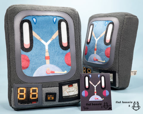 "*******PRE-ORDER CLOSED******* Mini ""Plush Capacitor"" -  Flat Bonnie x Nathan Hamill Collaboration"