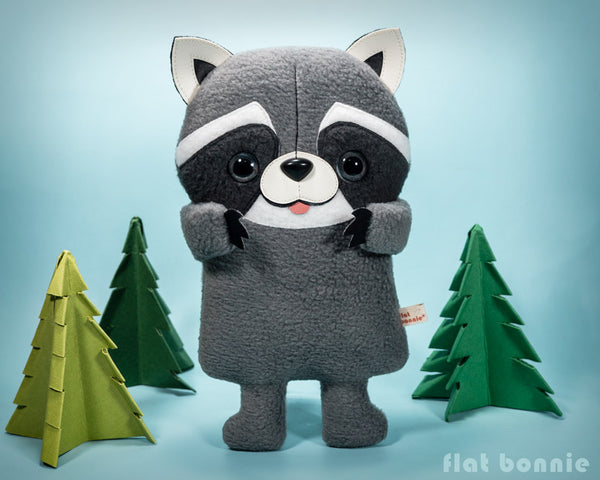 Koringo the cute Raccoon - stuffed animal - Handmade plush doll