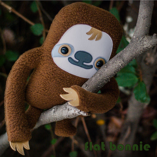 Sloth plush stuffed animal -  Manny the Sloth - Handmade plush toy - Plush Stuffed Animal - Flat Bonnie - 2