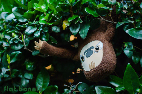 Sloth plush stuffed animal -  Manny the Sloth - Handmade plush toy - Plush Stuffed Animal - Flat Bonnie - 3