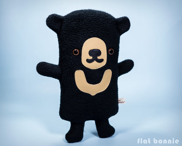 Sun Bear plush stuffed animal - Handmade Sun Bear soft toy - Plush Stuffed Animal - Flat Bonnie - 5