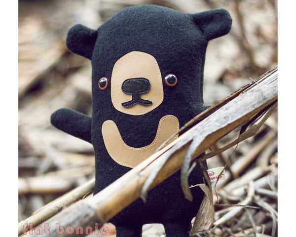 Sun Bear plush stuffed animal - Handmade Sun Bear soft toy - Plush Stuffed Animal - Flat Bonnie - 1