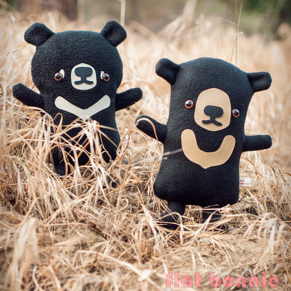 Sun Bear plush stuffed animal - Handmade Sun Bear soft toy - Plush Stuffed Animal - Flat Bonnie - 2