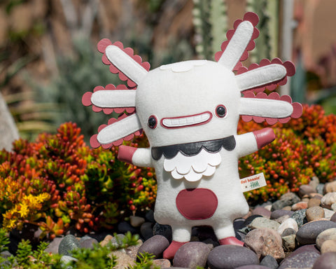 Flat Wooper - First Edition - Flat Bonnie x Gary Ham - Wooper Looper - Axolotl Plush - Plush Stuffed Animal - Flat Bonnie - 1