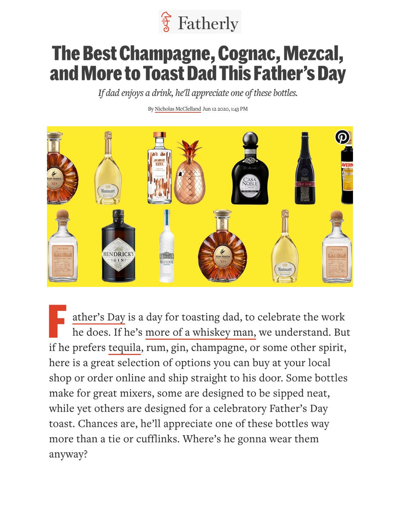 Absolut Elyx on Fatherly's roundup of bottles for dad