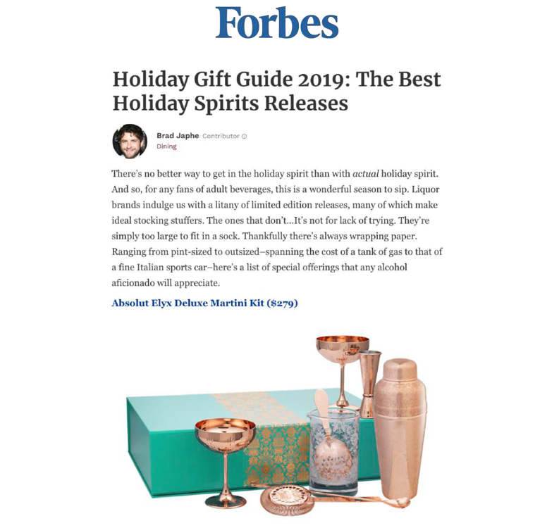Absolut Elyx Boutique Deluxe Martini Kit on Forbes