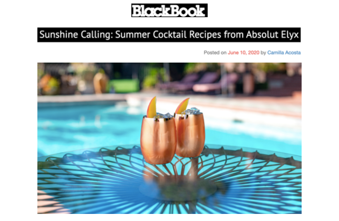 Sunshine Calling: Summer Cocktails by Absolut Elyx