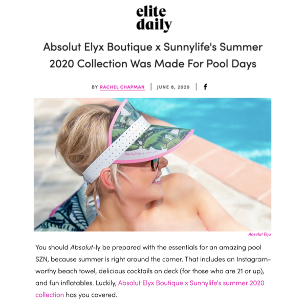 The Sunshine Edition Collection on Elite Daily