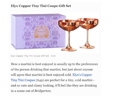 Absolut Elyx on Forbes Mother's Day Gift Guide: The Best Gifts For Martini Lovers