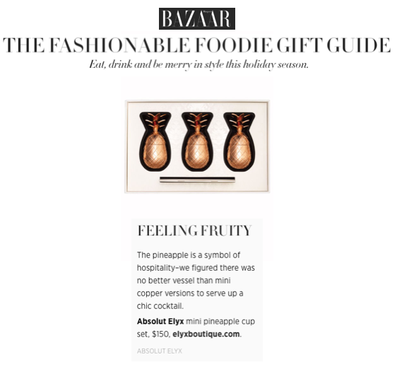 Elyx Boutique article Harpers Bazaar