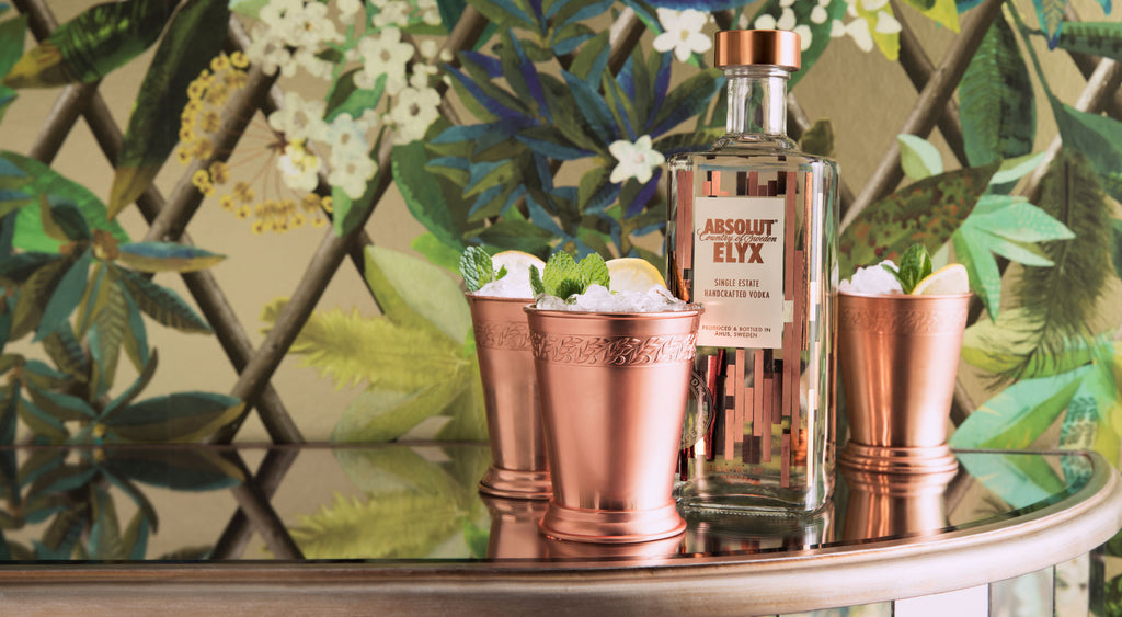 Copper Julep Cups with Absolut Elyx