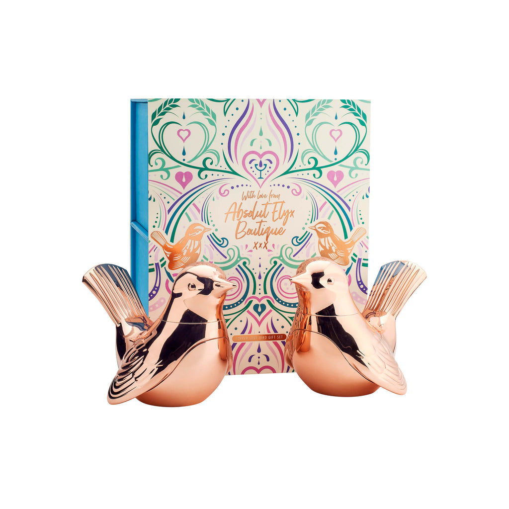 Copper Love Birds Gift Set