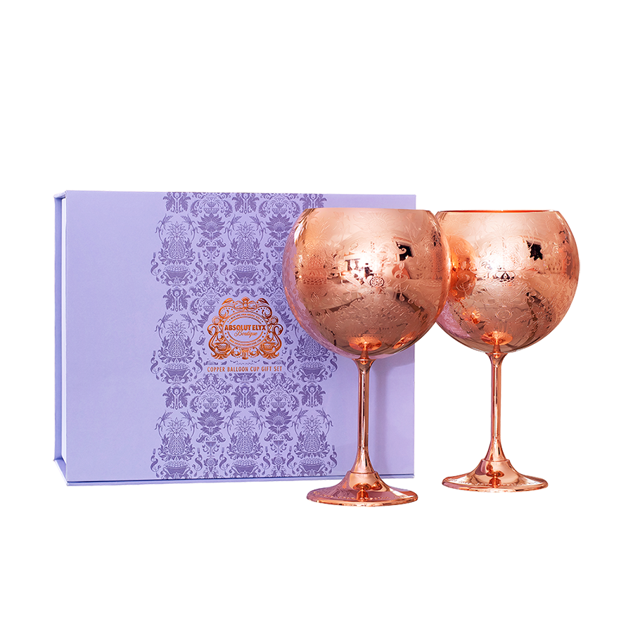 Copper Balloon Cup Gift Set