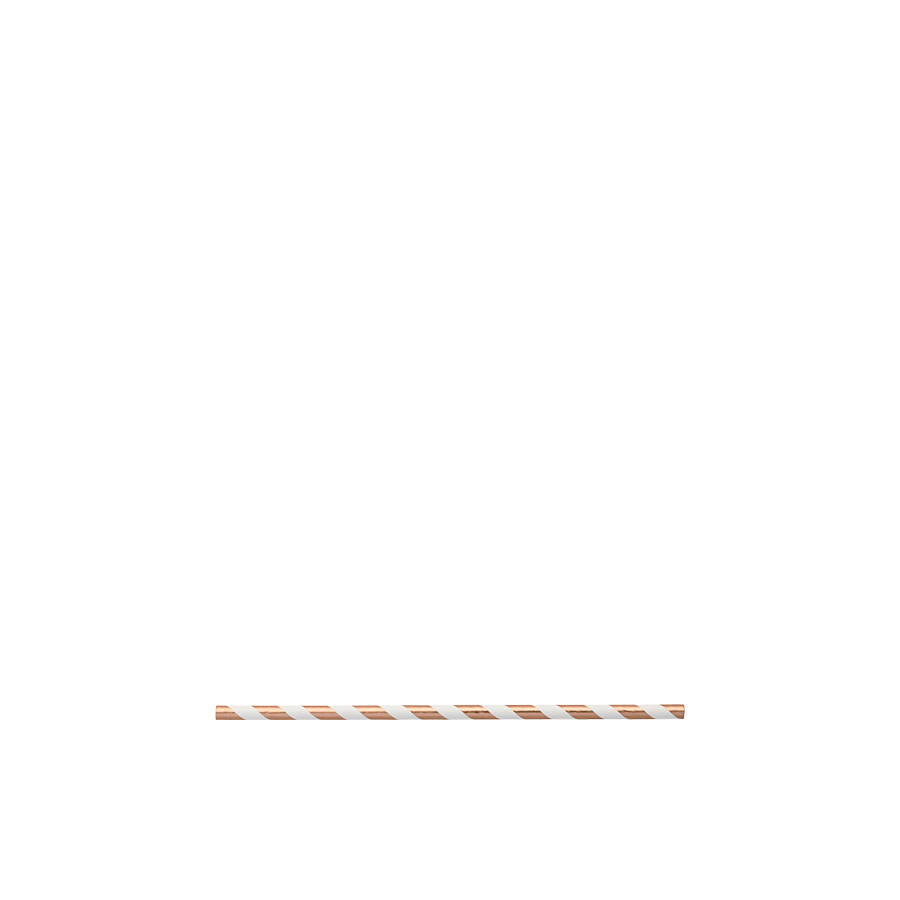 Copper Foiled Paper Straw Pack (25 units)