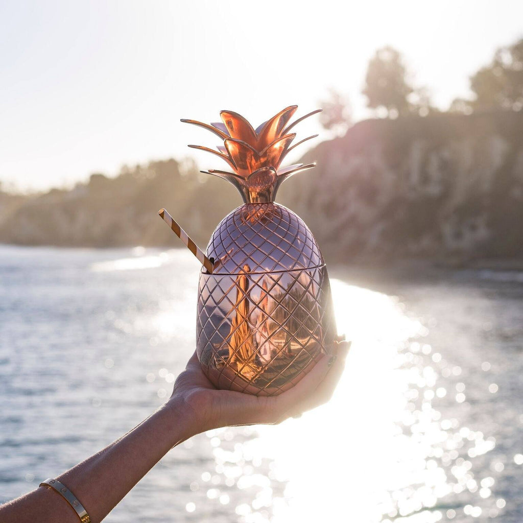 Thania Peck photo of the Absolut Elyx Copper Pineapple