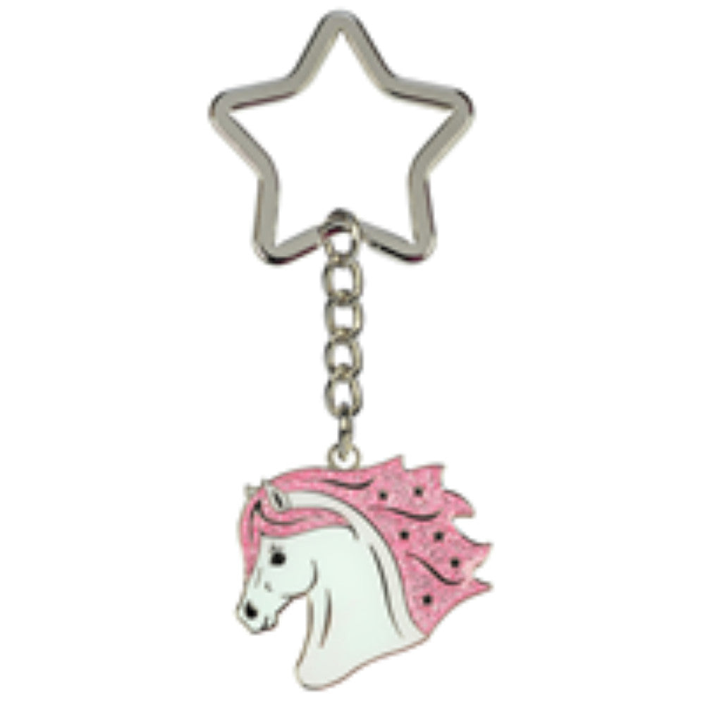 Happy Ross Whitestar Head Keyring