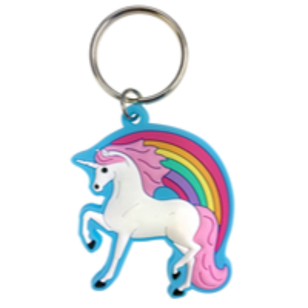 Happy Ross Rubber Unicorn Keyring