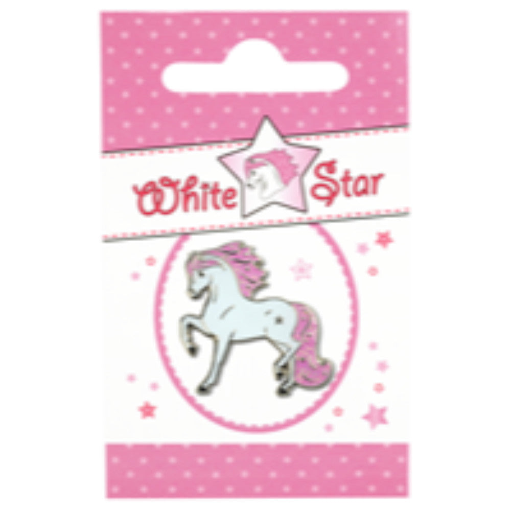 Happy Ross Whitestar Lapel Pin