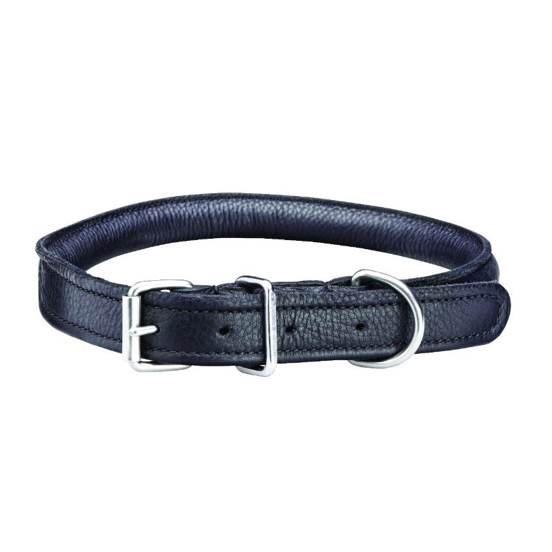 Masta Rolled Leather Dog Collar