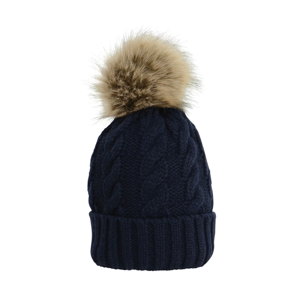 HyFASHION Melrose Cable Knit Bobble Hat