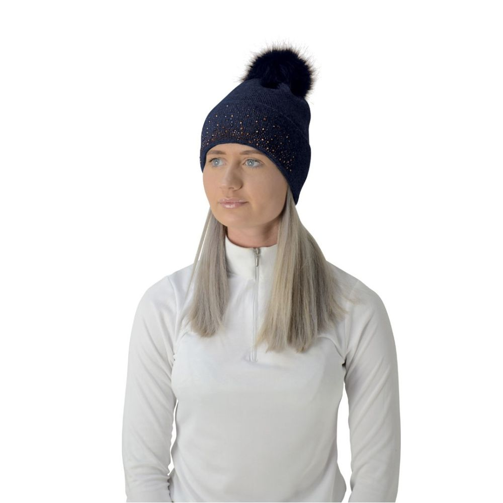 HyFASHION Two Toned Alaska Bobble Hat