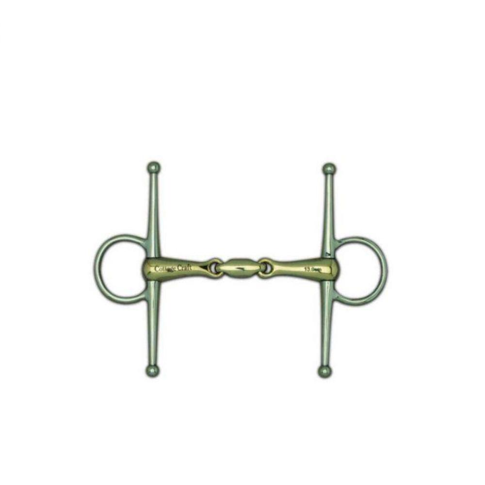 Cottage Craft Full Cheek Snaffle Bit with Elliptical Link