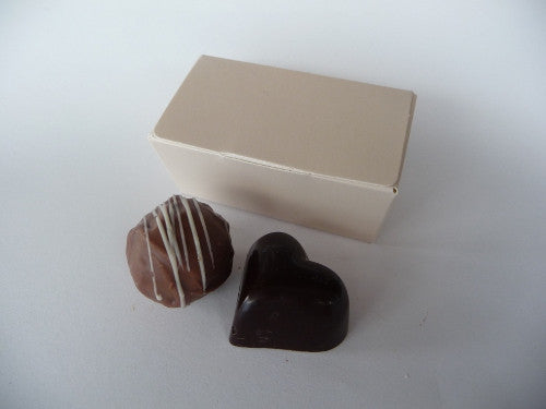 2 choc ballotin, undecorated