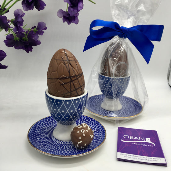 Chocolate Egg, Cup and Saucer