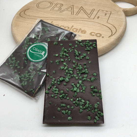 70% Dark chocolate with mint crunch