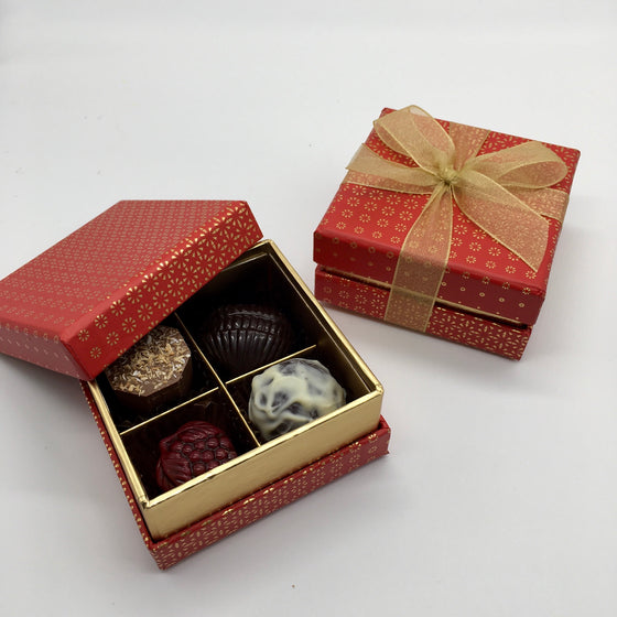4 Choc red and gold box