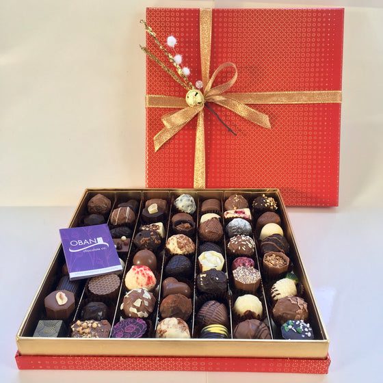 Swanky Red & Gold 56 Chocolate Box