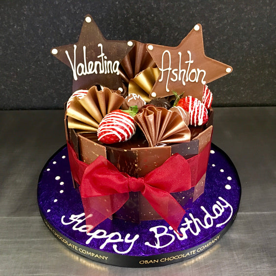 Chocolate, strawberries & stars