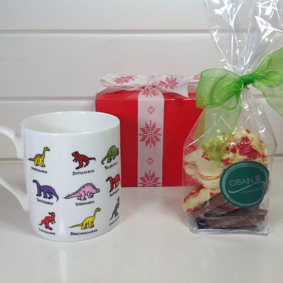 Dinosaur Mug with Chocolate Dinosaurs