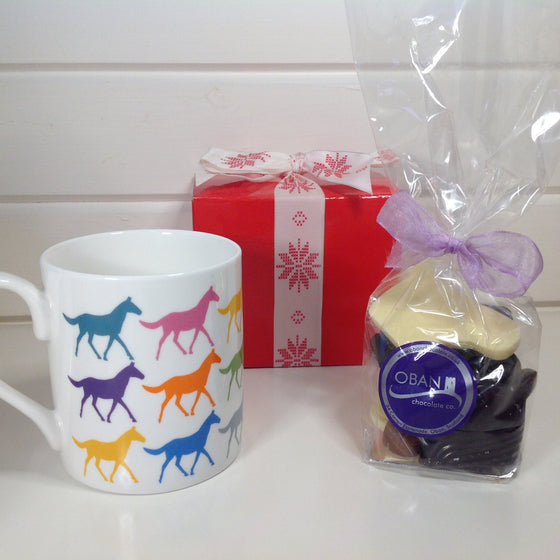 Orla Kiely Horse Mug with Chocolate Horse