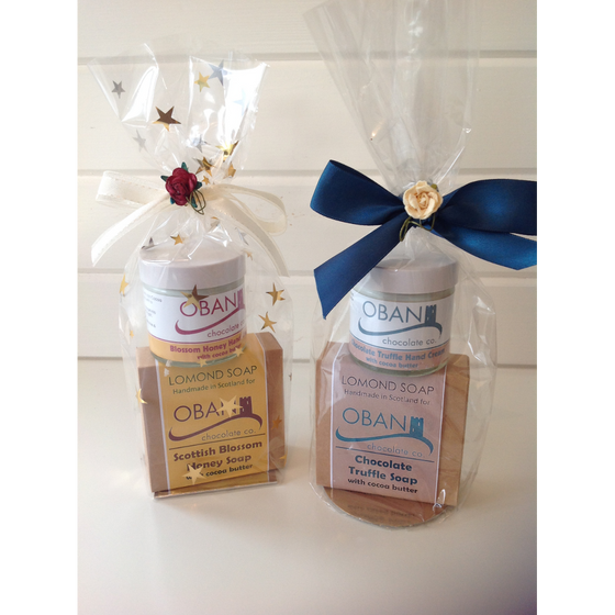 Cocoa butter soap and handcream set