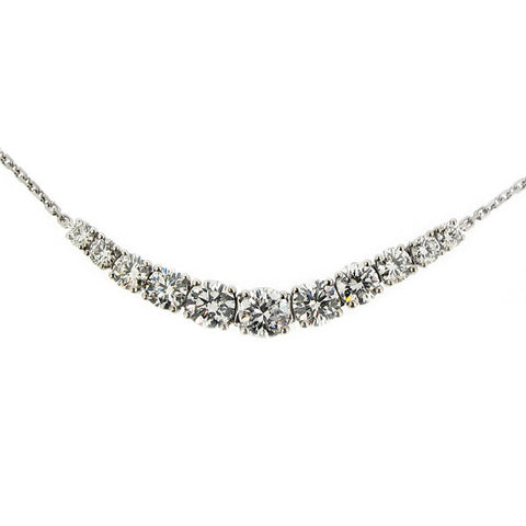 Neckwear - Diamond centrepiece necklace in 18ct white gold, 1.04ct  - PA Jewellery