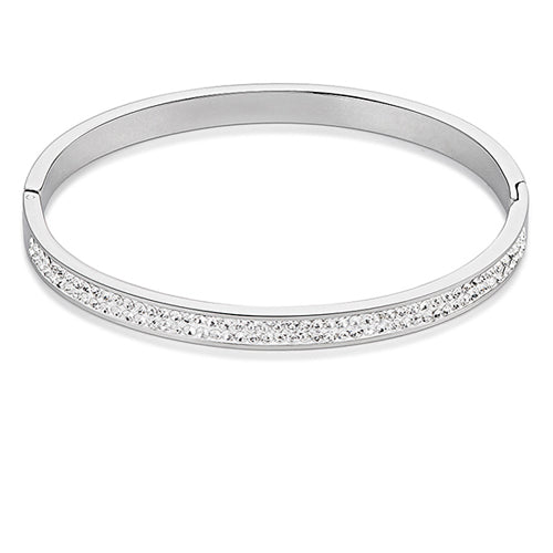 COEUR DE LION CRYSTAL SET BANGLE - WHITE - 0114/33-1800