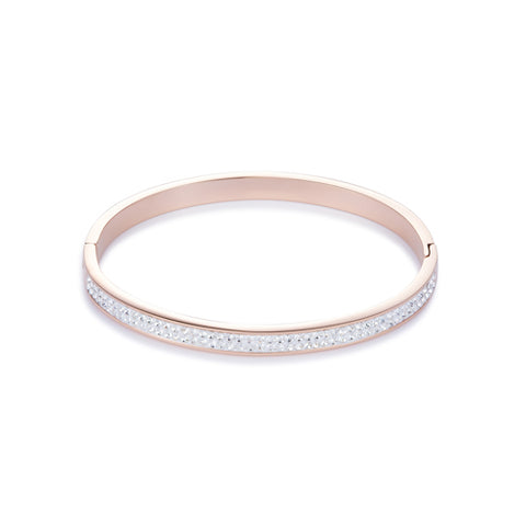 COEUR DE LION CRYSTAL SET BANGLE – WHITE – 0214/33-1800