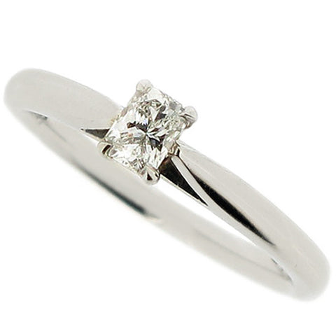 Phoenix cut diamond solitaire ring in platinum, 0.21ct
