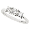 Brilliant cut diamond three stone ring in 18ct white gold, 0.57ct