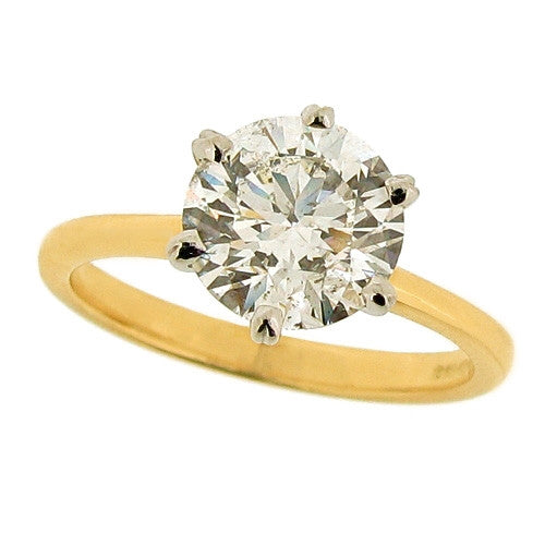 Ring - Brilliant cut Diamond solitaire ring in 18ct yellow gold, 2.06ct  - PA Jewellery
