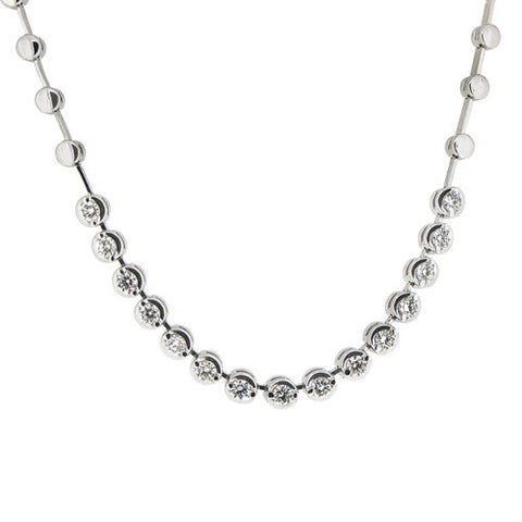 Neckwear - Diamond necklace in 18ct white gold, 0.75ct  - PA Jewellery