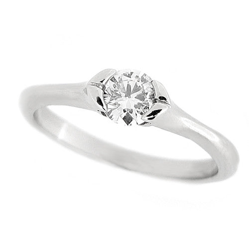 Ring - Brilliant cut diamond solitaire ring in platinum, 0.35ct  - PA Jewellery