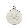 Cyclist's St Christopher pendant in silver